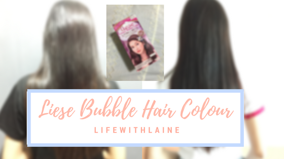 Liese Bubble Hair Dye in Rose Tea Brown Review